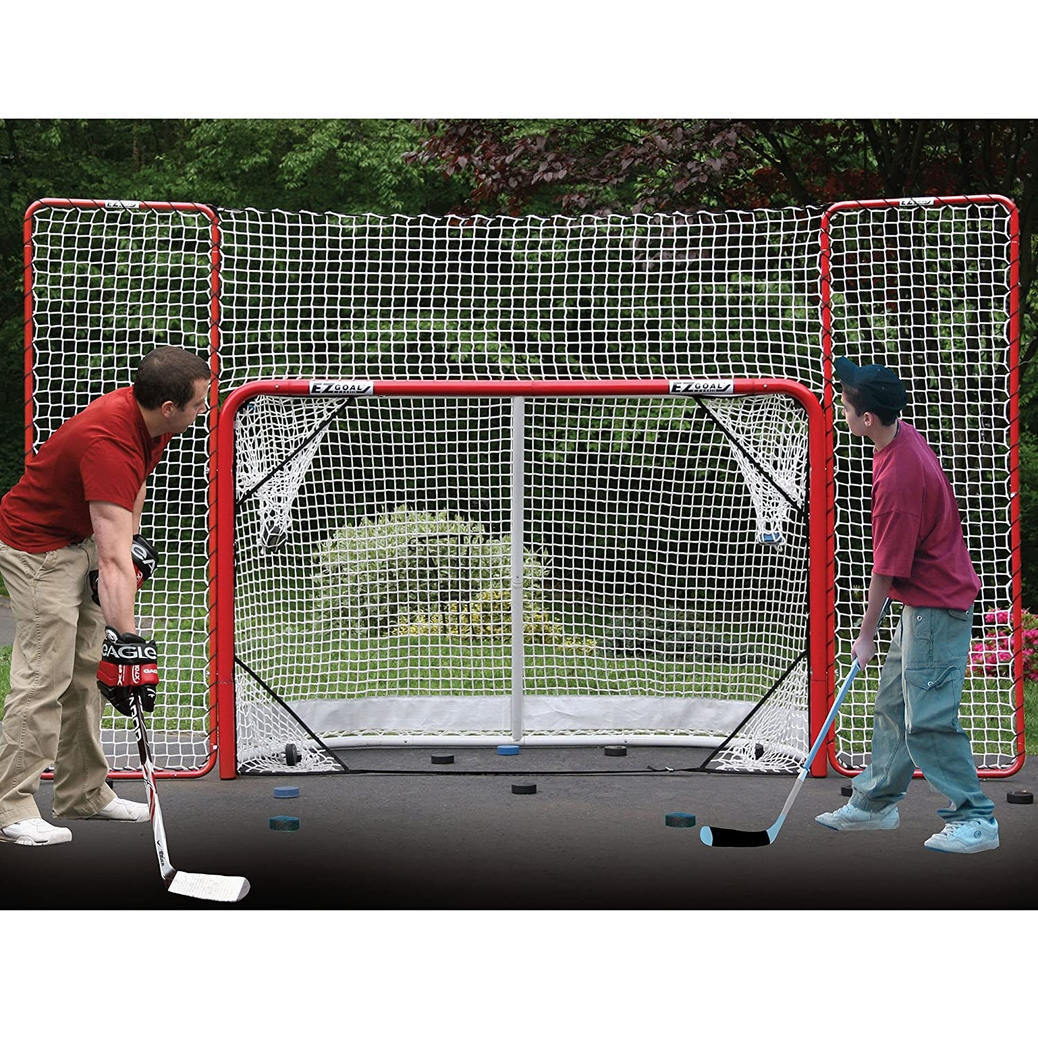 hockey nets with backtops
